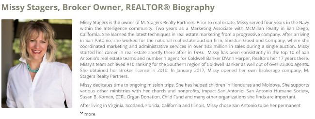 missy stagers realtor bio