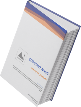 designed cover of hubspot's free marketing plan template