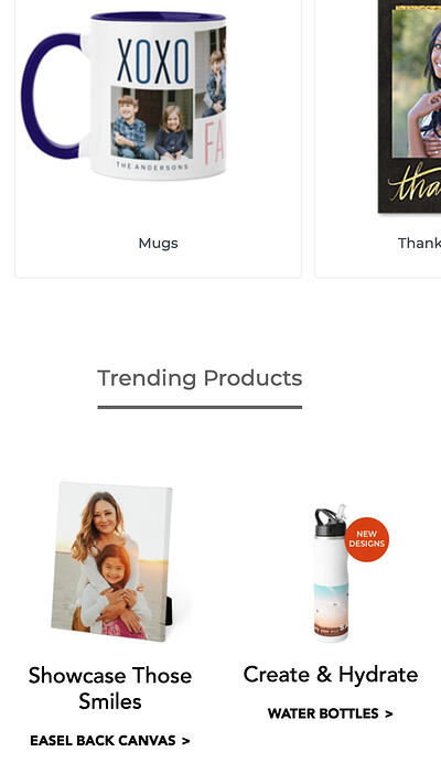 mobile-website-design-emobile website design: shutterfly product listingsxamples-shutterfly-2