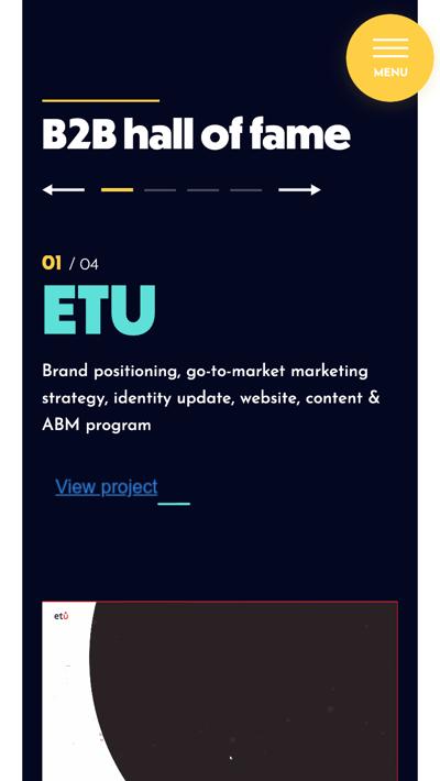 mobile website design: squaredot customer stories page