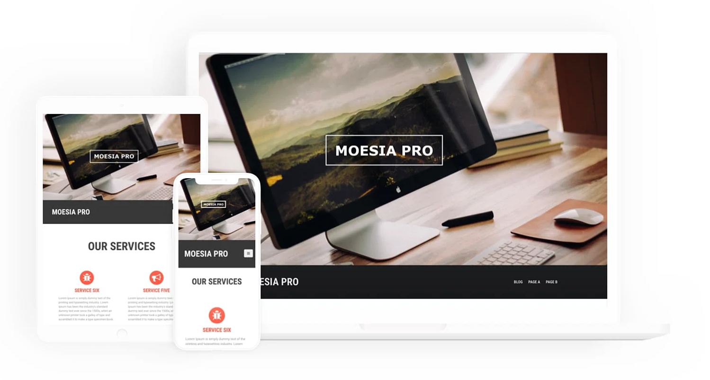 Moesia Pro one page WordPress theme