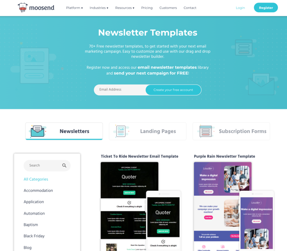 moosend-newsletter-templates