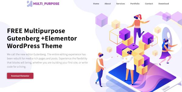 multipurpose portfolio elementor template