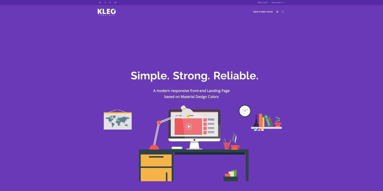 demo for the multipurpose wordpress theme kleo
