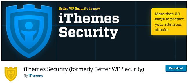 product page for the WordPress plugin ithemes security