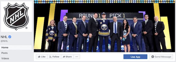 National Hockey League Facebook Business Page