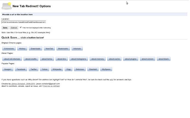 برگه جدید تغییر مسیر افزونه Chrome