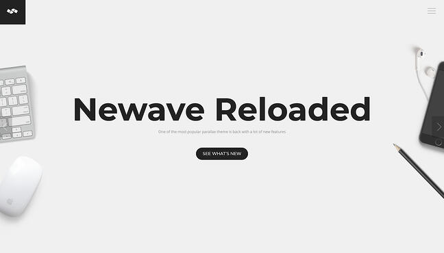 One-page WordPress theme demo for Newave