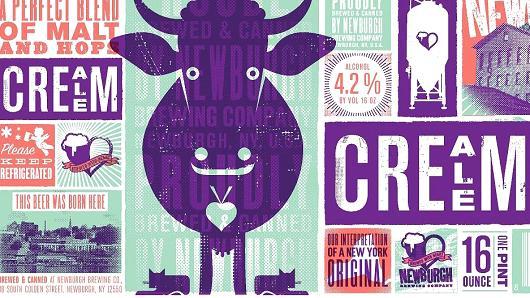 newburg-brewing-cream-ale.jpg  The 14 Coolest Beer Label Designs You've Ever Seen newburg brewing cream ale