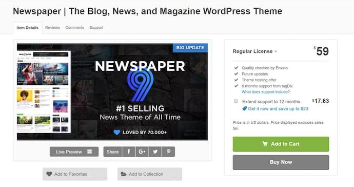 newspaper-simple-wordpress-theme