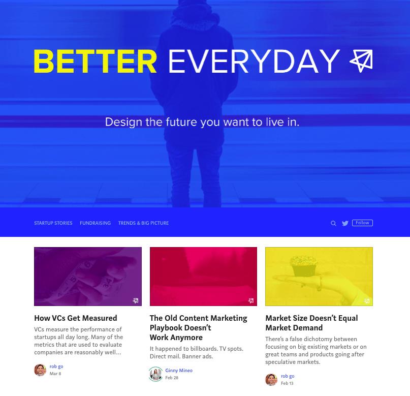 B2B content marketing blog on Medium from NextView Ventures