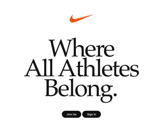 Nike homepage