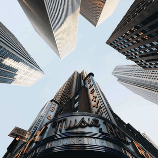 No Your City Instagram account showing Radio City Music Hall in Manhattan, New York