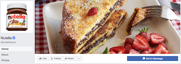 Nutella Facebook Business Page