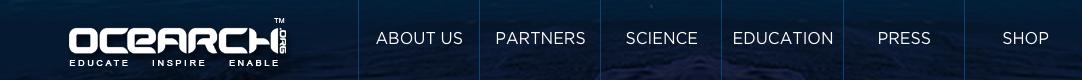OCEARCH Shark Tracker website header