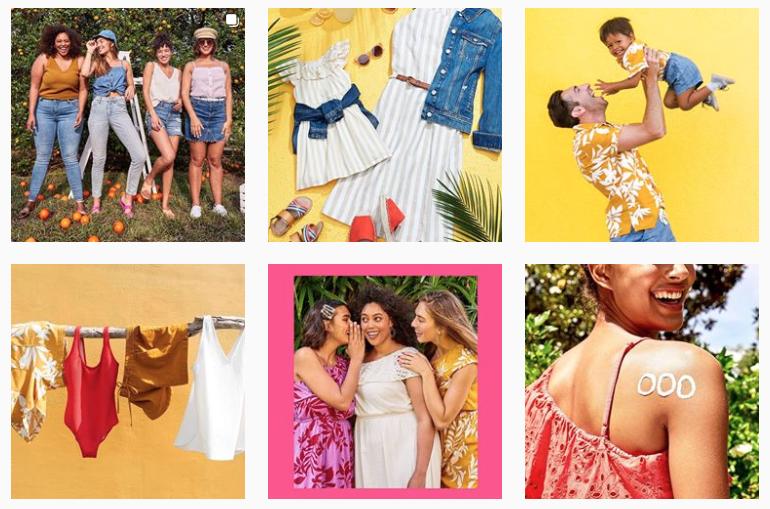 oldnavy-instagram-aesthetics-examples