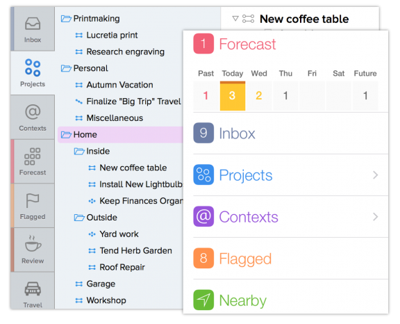 OmniFocus to do list app