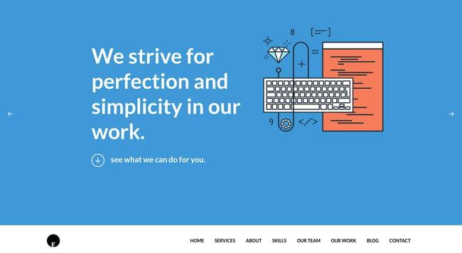 One-page WordPress theme demo for OneEngine