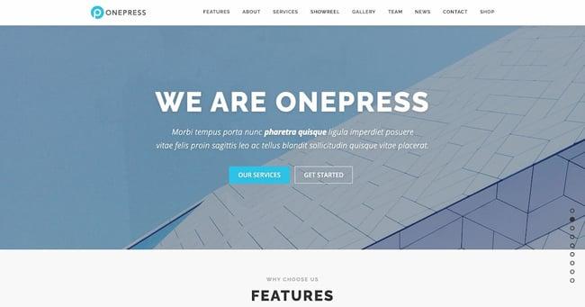 One-page WordPress theme demo by OnePress
