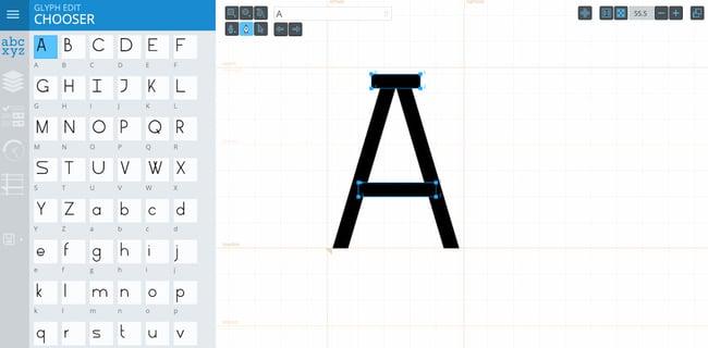 free online font generators: Glyphr