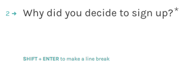 example of an open ended survey response question