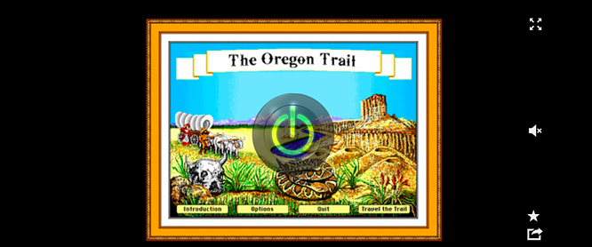 The Oregon Trail website preview for online game