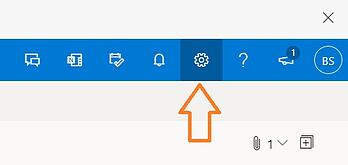 outlook gear icon