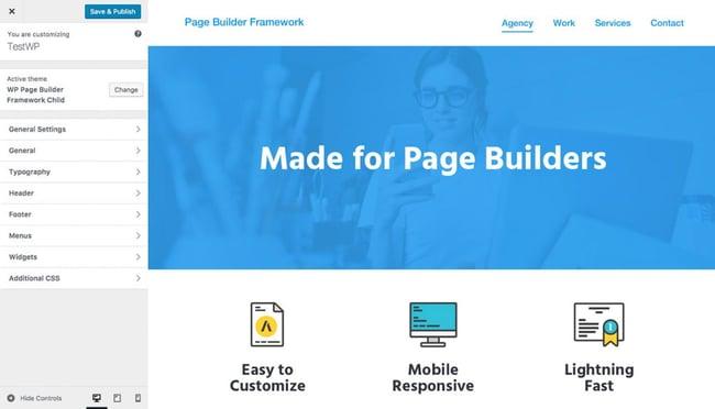 Page Builder Framework marketing graphic