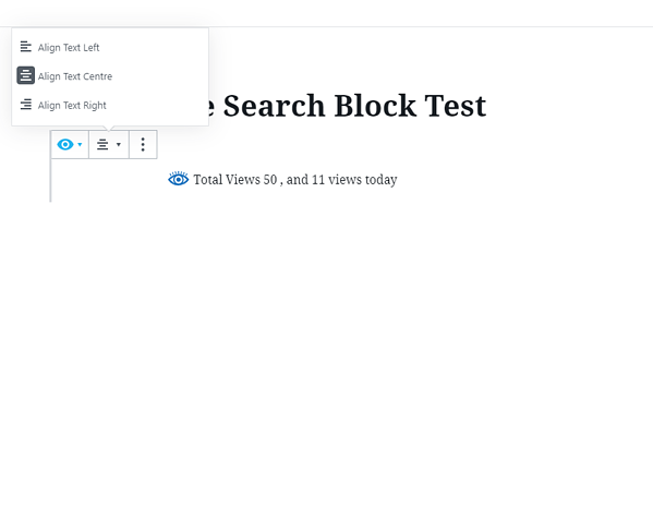 sample wordpress post with minimalist page total views content block
