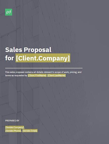 general sales proposal template from pandadoc