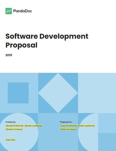 software development proposal template from pandadoc