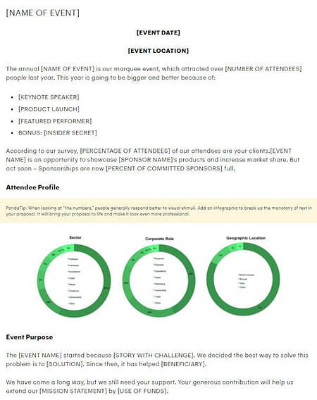sponsorship proposal template from pandadoc
