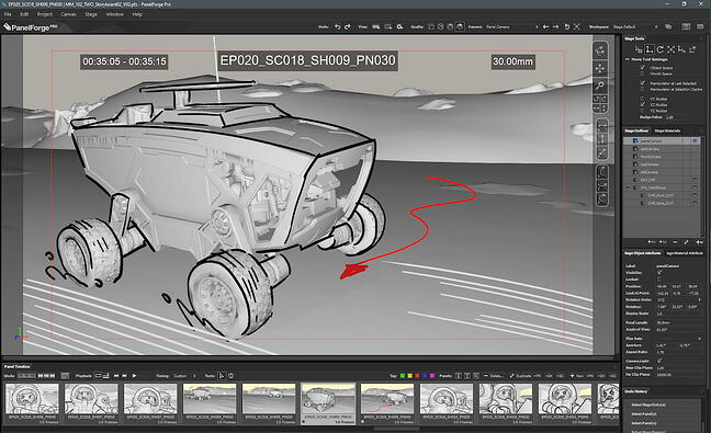 Storyboarding software by PanelForge