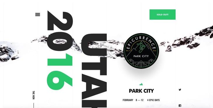 Park City Typography Example