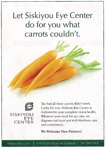 Informative Advertising - Siskiyou Eye Center