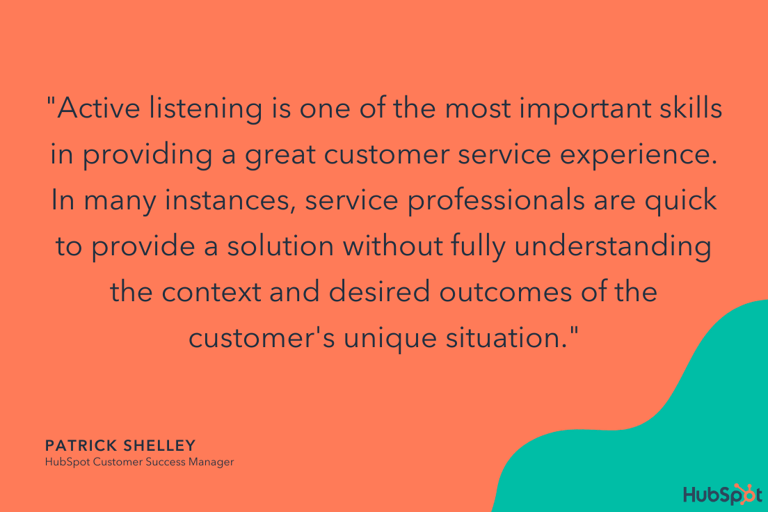 patrick shelley quote on customer service