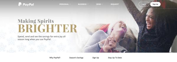 Paypal Urlaub Homepage