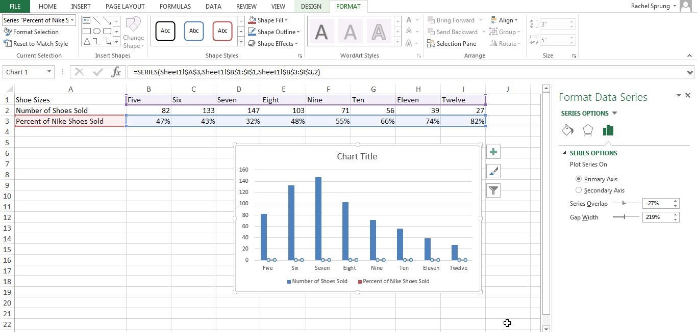 how to add infinity in excel axes