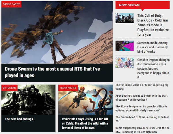 pcgamer blog homepage