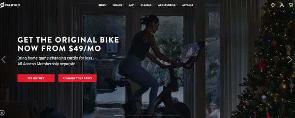 Peloton vacation homepage