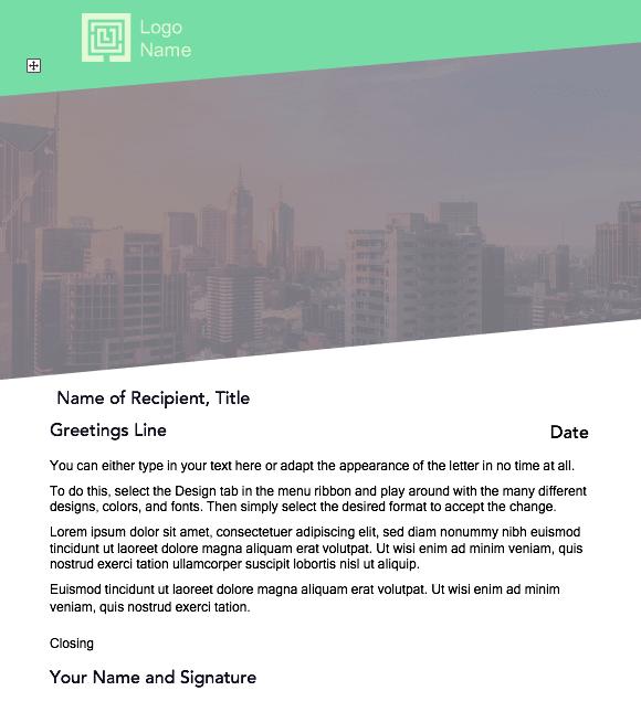modern cover letter format