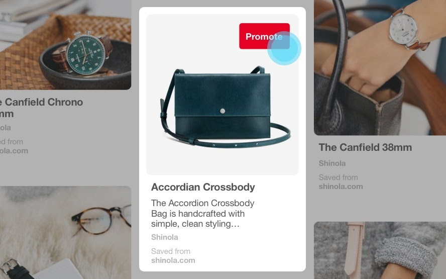 Pinterest online ad example.