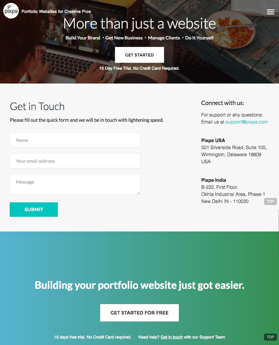 pixpa-contact-us-page