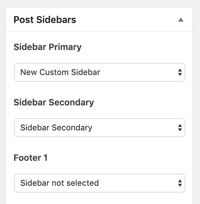 post sidebars to add widget to WordPress page