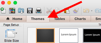 PowerPoint themes.