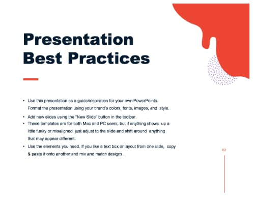 presentation slide deck best practices