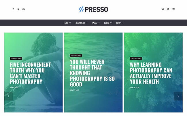 Best viral WordPress themes: PRESSO