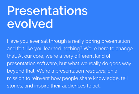 Prezi vision and mission statement