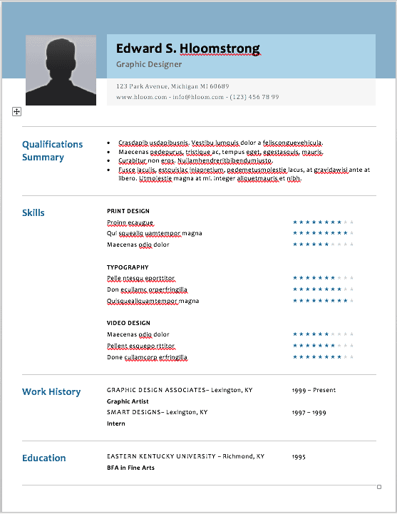 the best resume formats