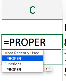proper formula